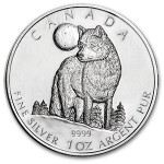 Canadian Silver Wolf Back